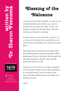 Copy of Postcard. Blessing of the Naloxone